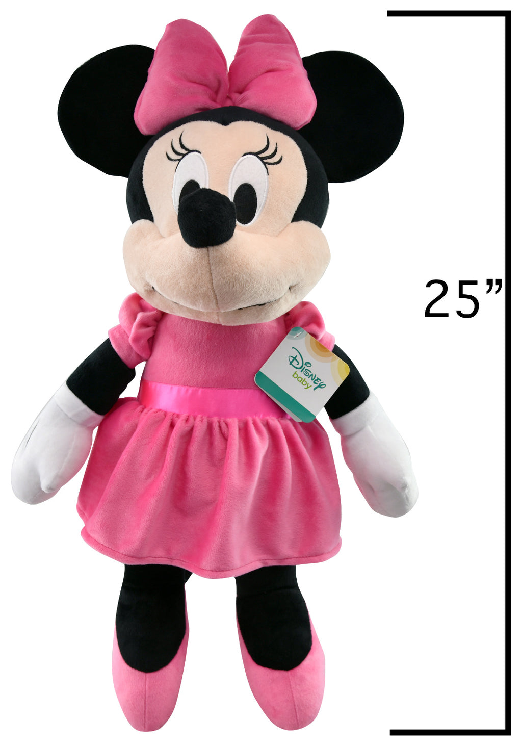 "25"" Minnie Mouse Plush Toy - Pink - CASE OF 12"