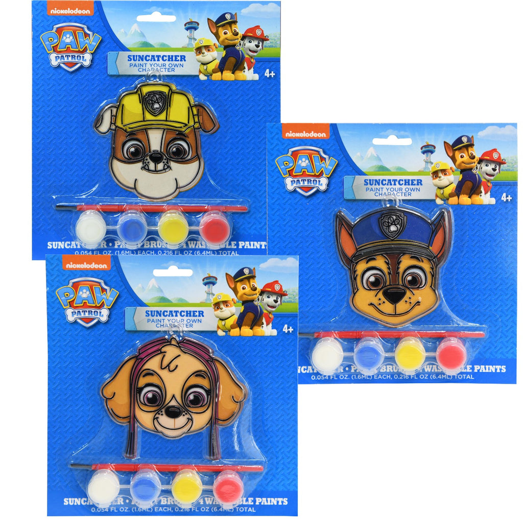Paw Patrol Sun Catcher Paint Your Own Character - Assorted - CASE OF 252