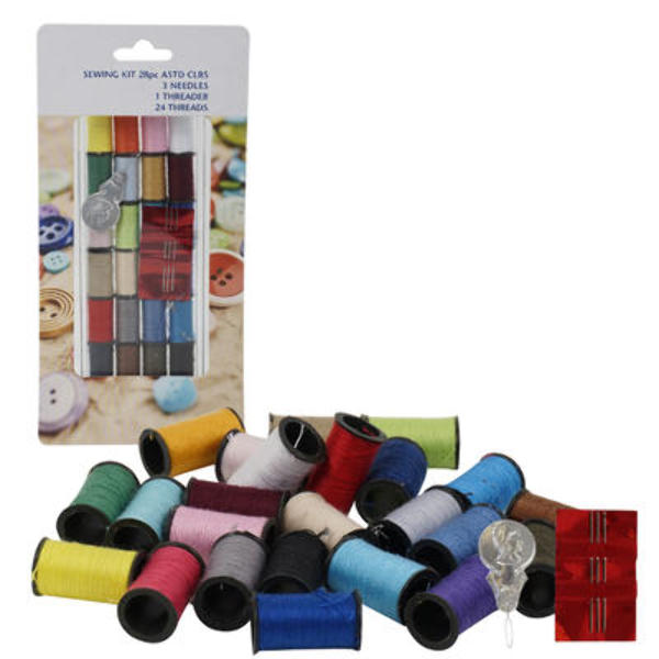 28-piece Sewing Kit - CASE OF 48