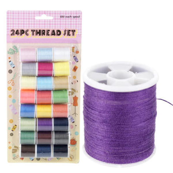 24 Count Spools of Thread Set - CASE OF 48