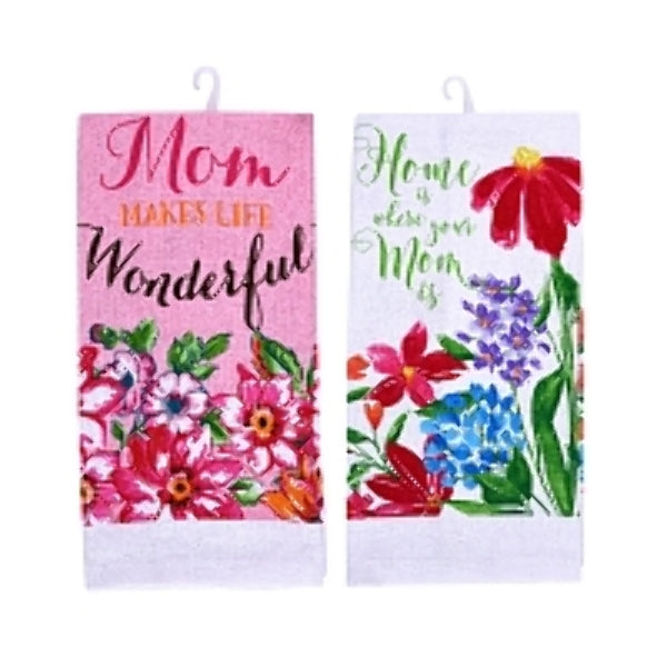 Printed Mother's Day Kitchen Towels - CASE OF 48