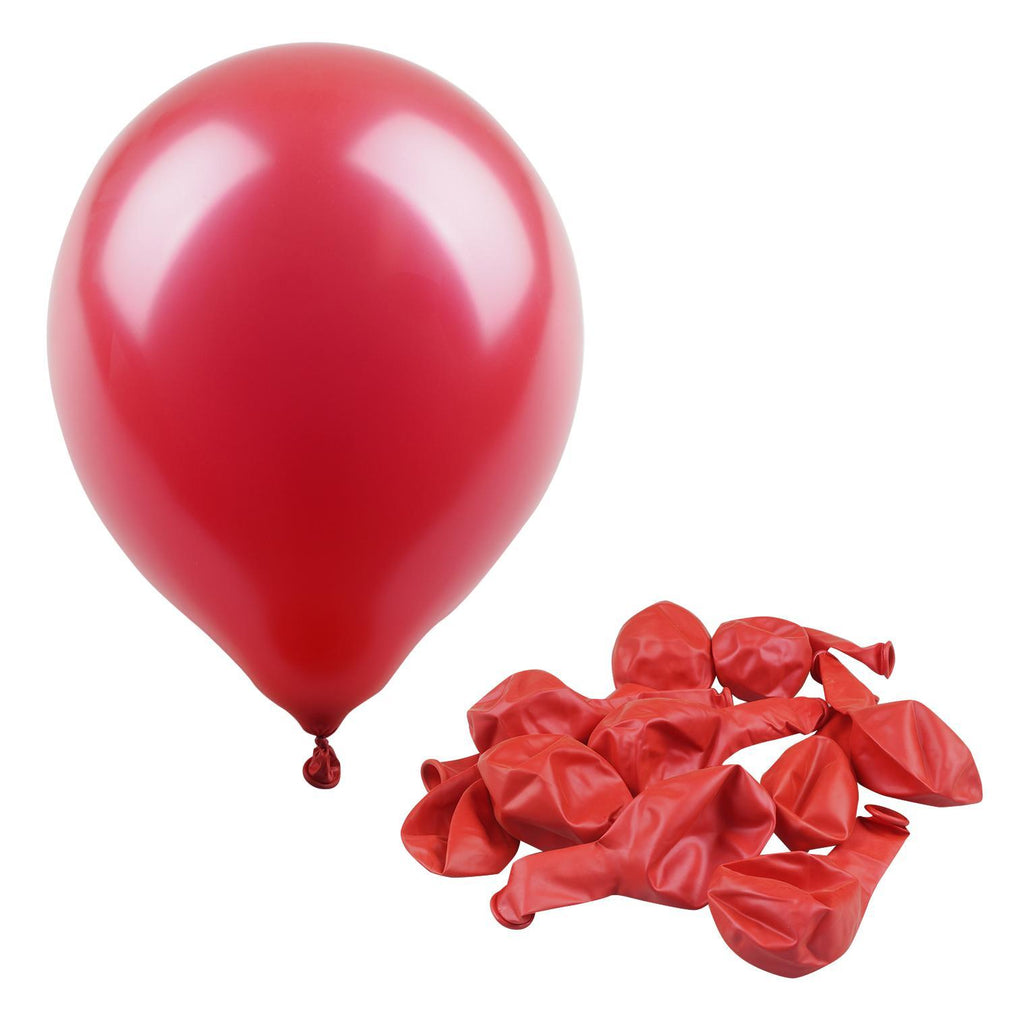 "Red 12"" Metallic Balloon - 10 Count - CASE OF 48"