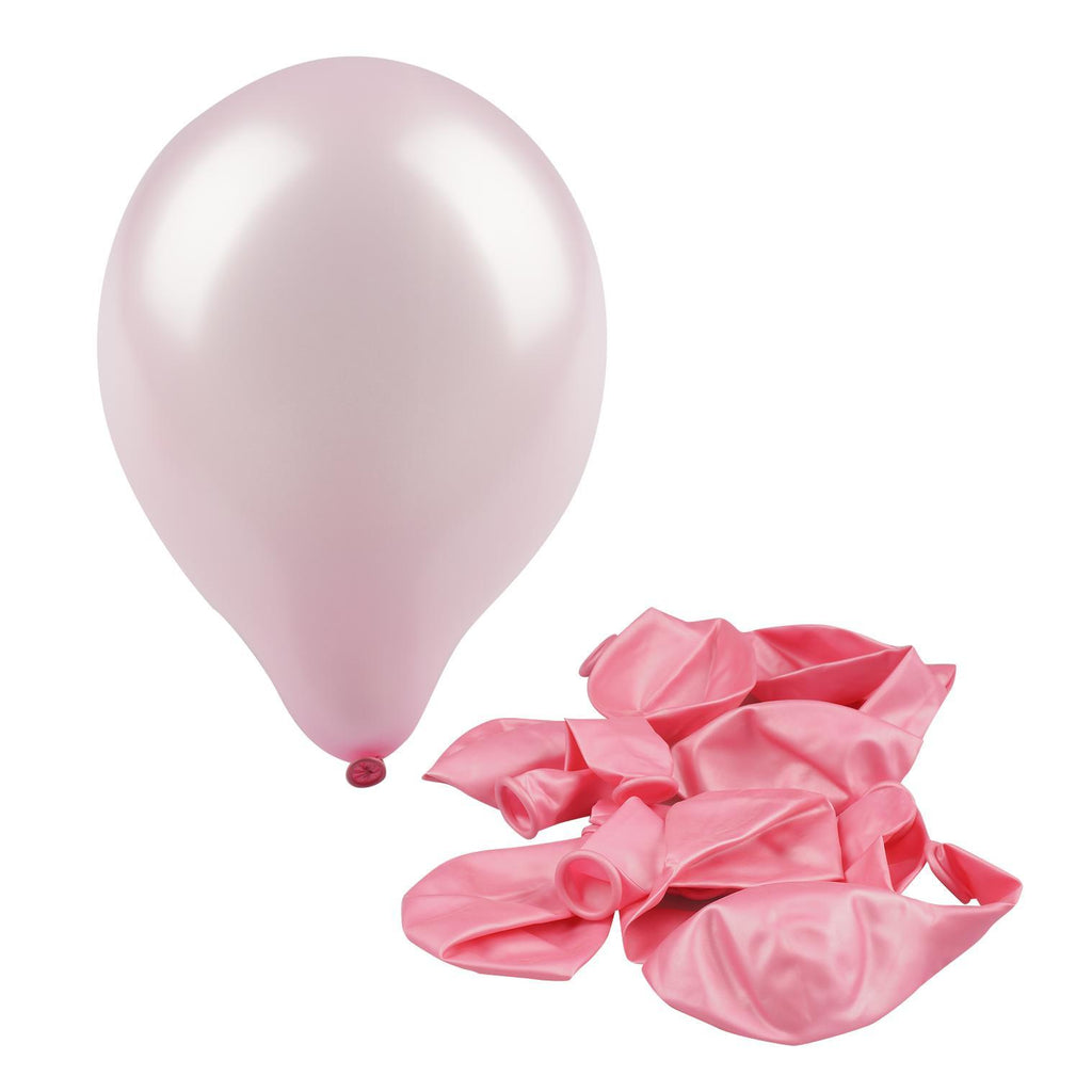 "Pink 12"" Metallic Balloon - 10 Count - CASE OF 48"