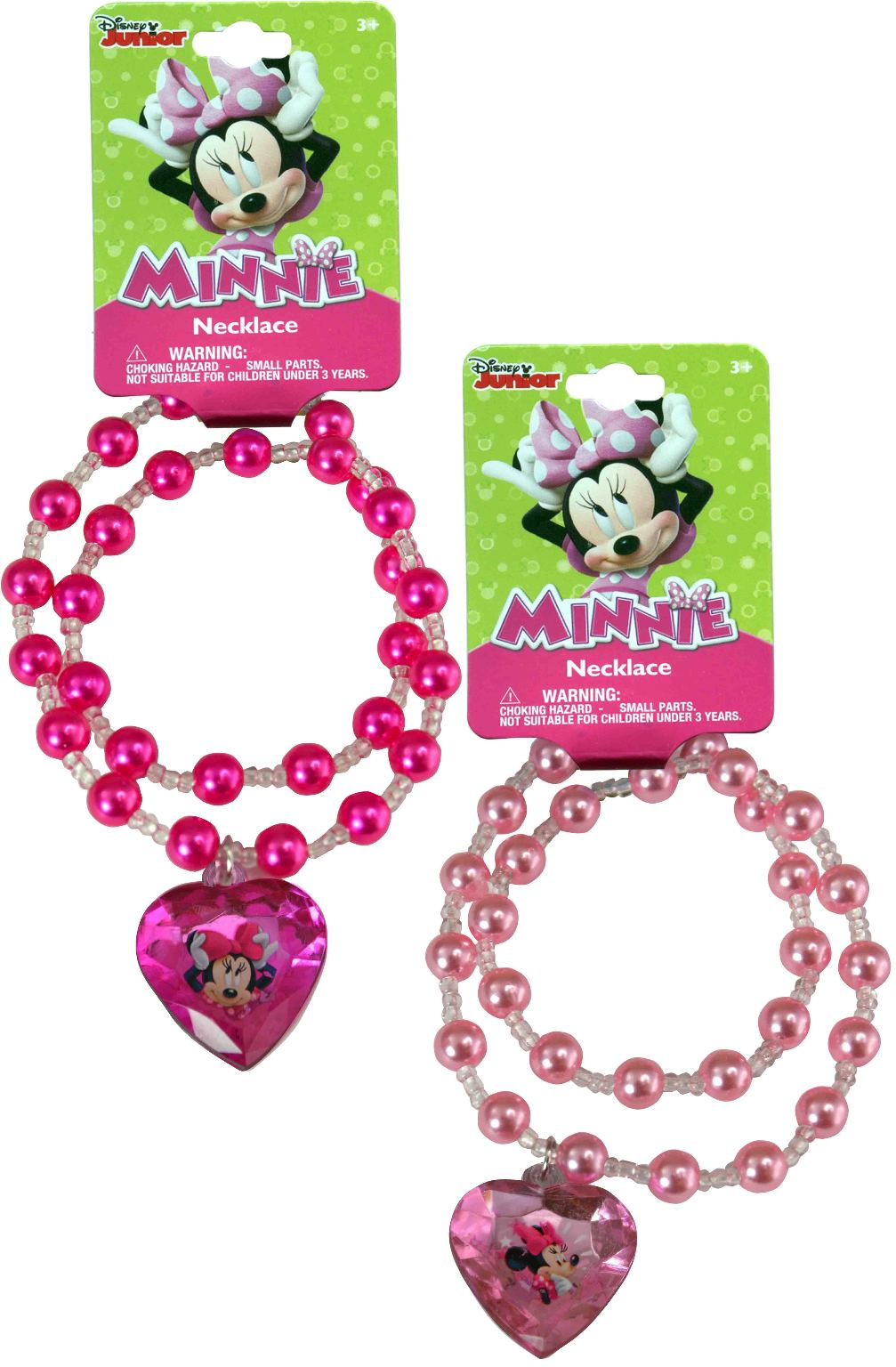 Minnie Bowtique Pearl Necklace with 3D Gem - Assorted - CASE OF 288
