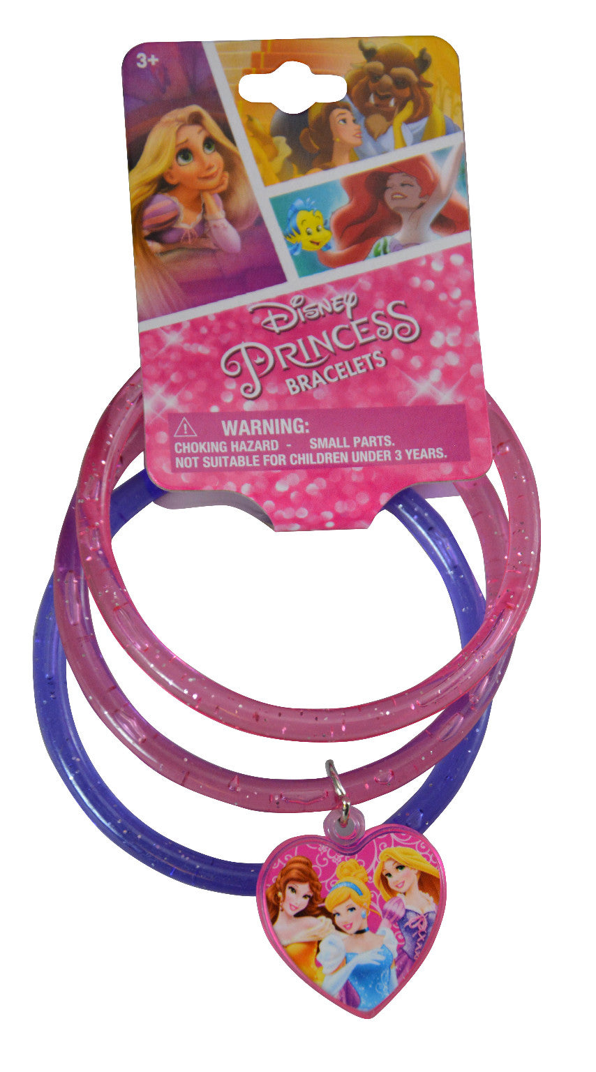 Princess Glitter Bangles with Plastic Charm - CASE OF 288