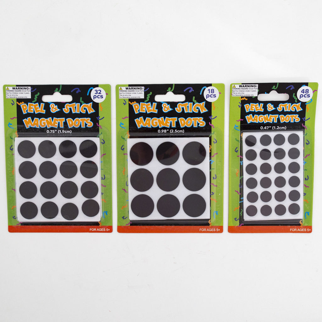Peel and Stick Magnetic Dots - Assorted Packs - CASE OF 48