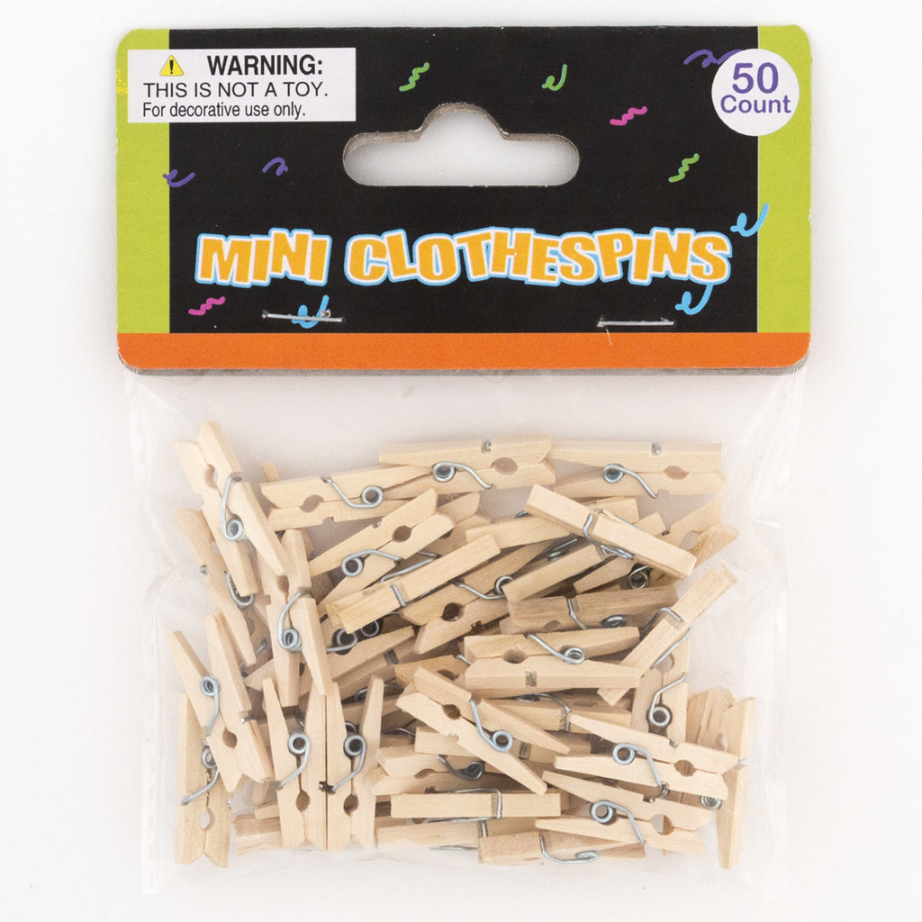 Craft Clothespins 50 Count - CASE OF 48