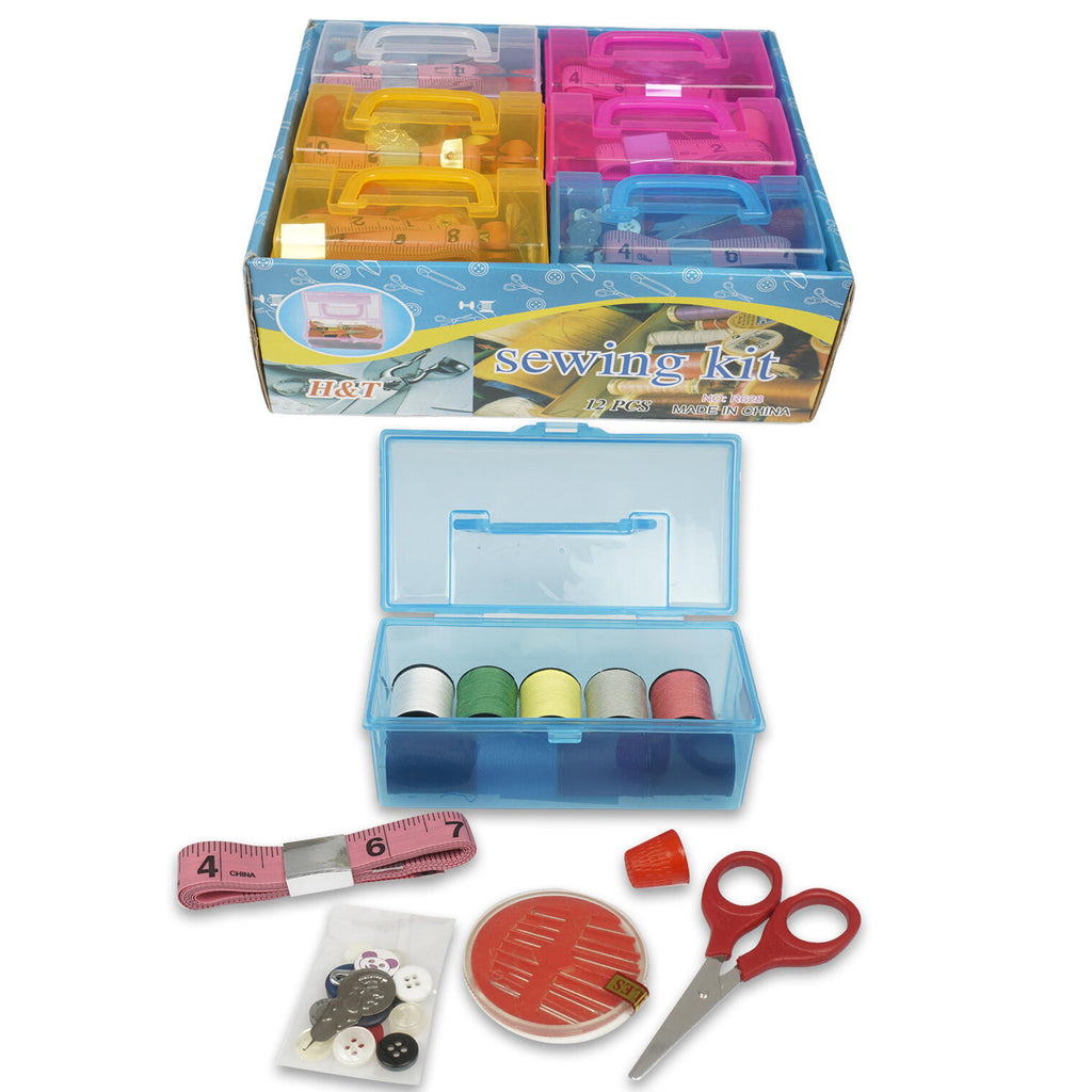Sewing Set with Case- Assorted Colors - CASE OF 72