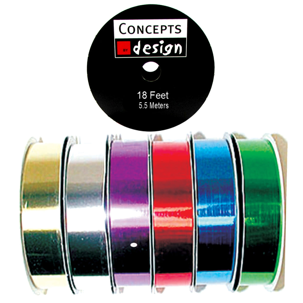 18' Metallic Curling Ribbon Spool - Assorted - CASE OF 240
