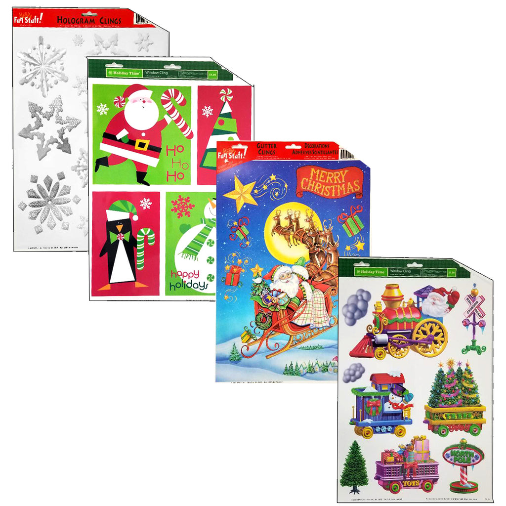 Christmas Window Clings - CASE OF 48