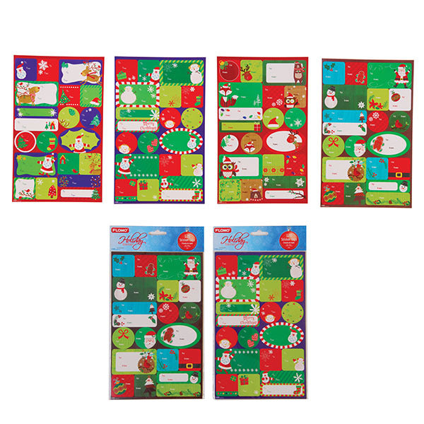 Christmas Self-Stick Tags - CASE OF 72