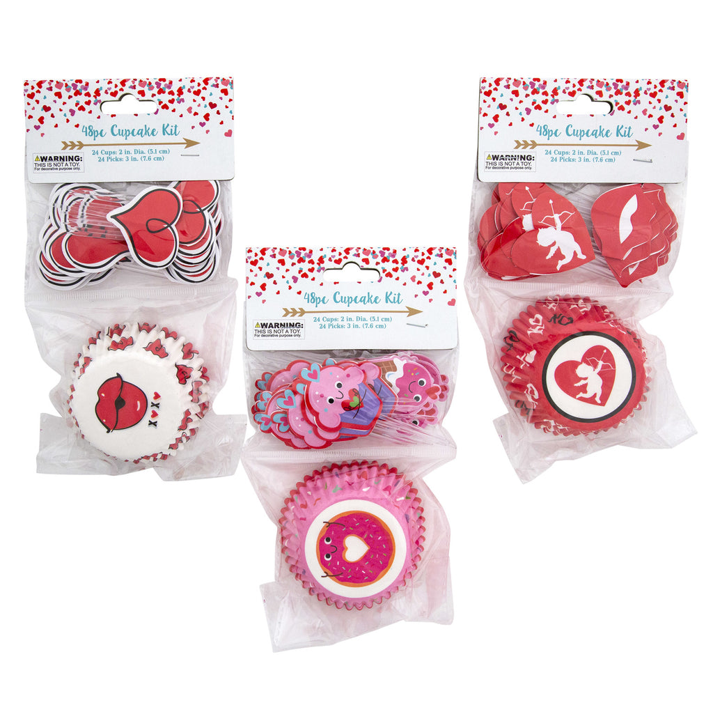 48 Piece Cupcake Decorating Kit - Assorted - CASE OF 48