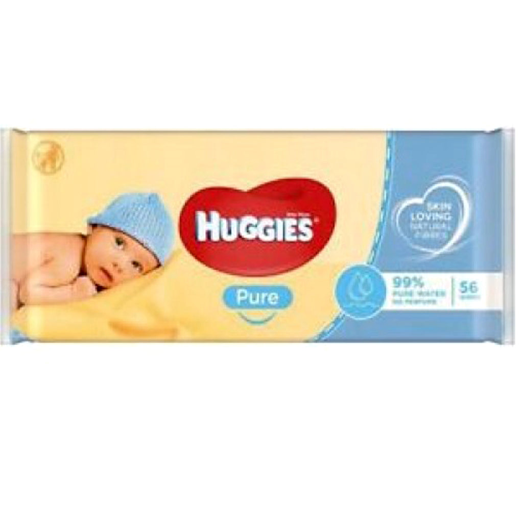 Huggies(R) Baby Wipes, Pure (Unscented), 56 Count - CASE OF 10