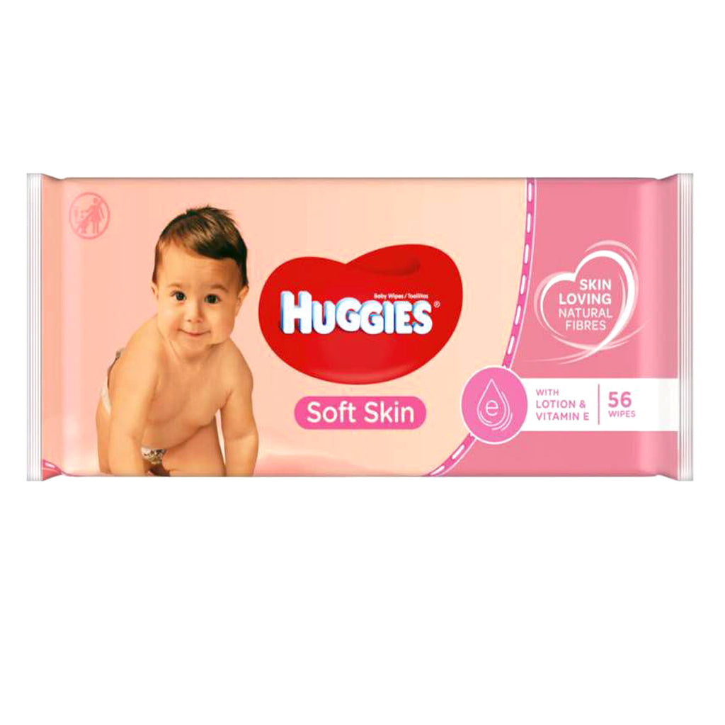 Huggies(R) Baby Wipes - Lotion and Vitamin E- 56 Count - CASE OF 10