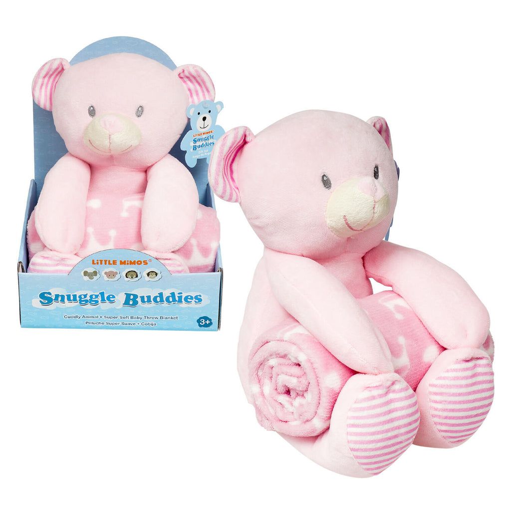 Little Mimos Snuggle Buddies Plush & Blanket - Bear - CASE OF 12
