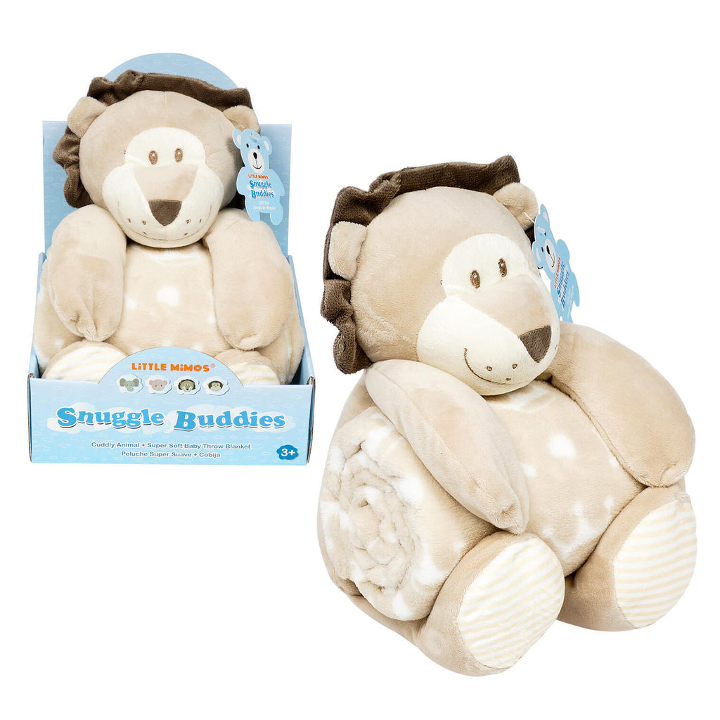 Little Mimos Snuggle Buddies Plush & Blanket - Lion - CASE OF 12