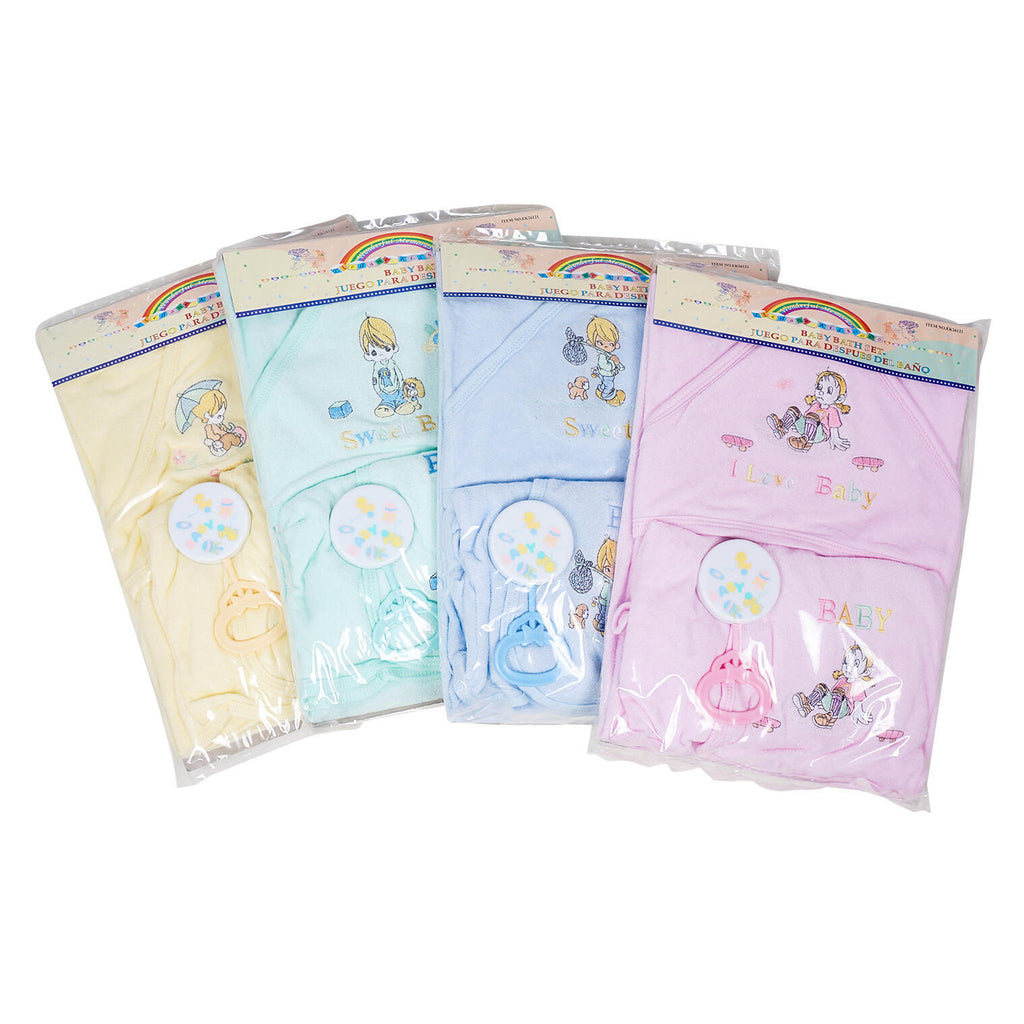 3 Piece Baby Bath Set - Assorted - CASE OF 24