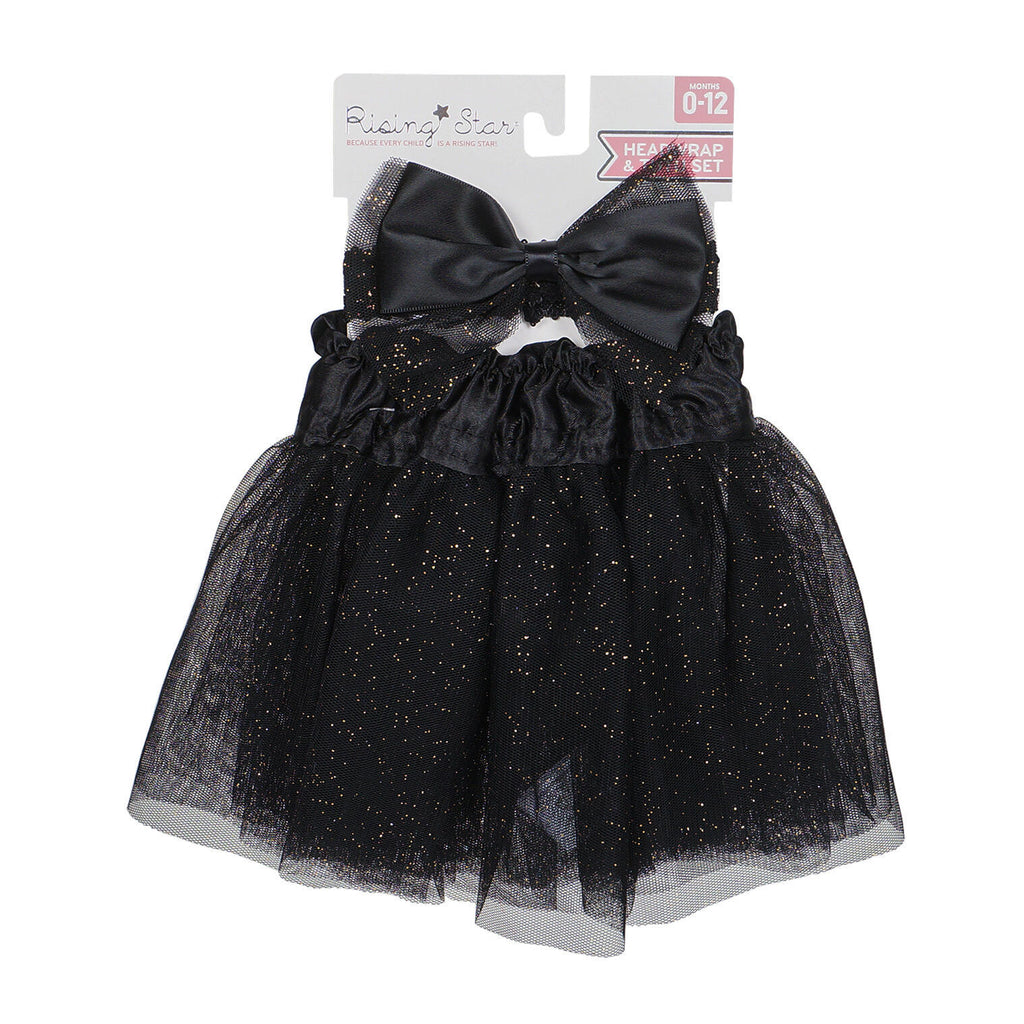 Dress Up Headband Set with Bow - Black - CASE OF 96