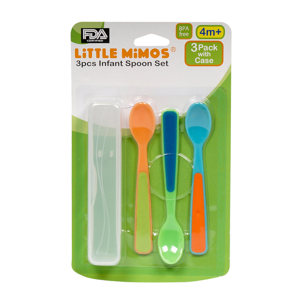 Little Mimos 3 Piece Infant Spoon Set - CASE OF 48