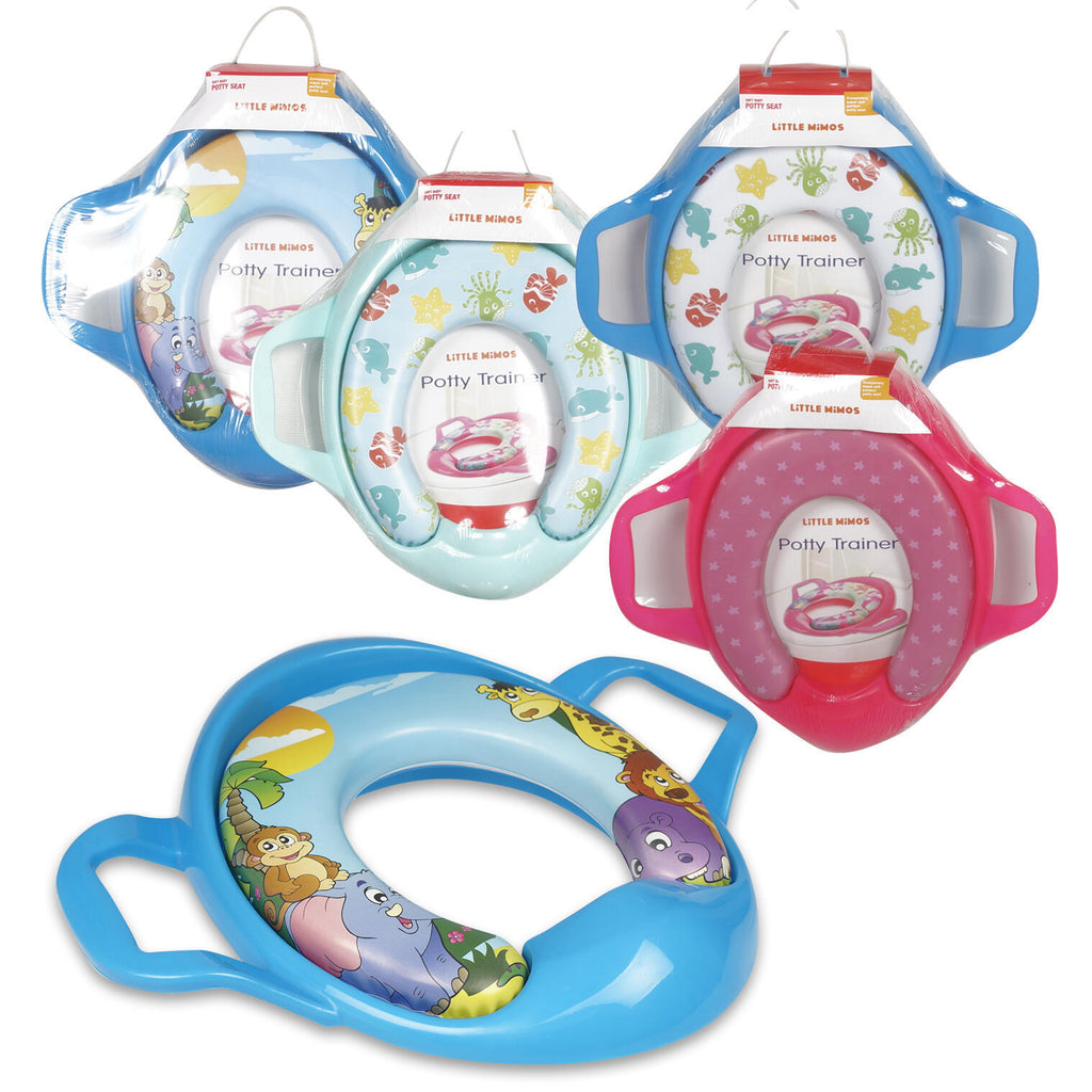 Little Mimos Soft Baby Toilet Seat with Handles - Assorted - CASE OF 12