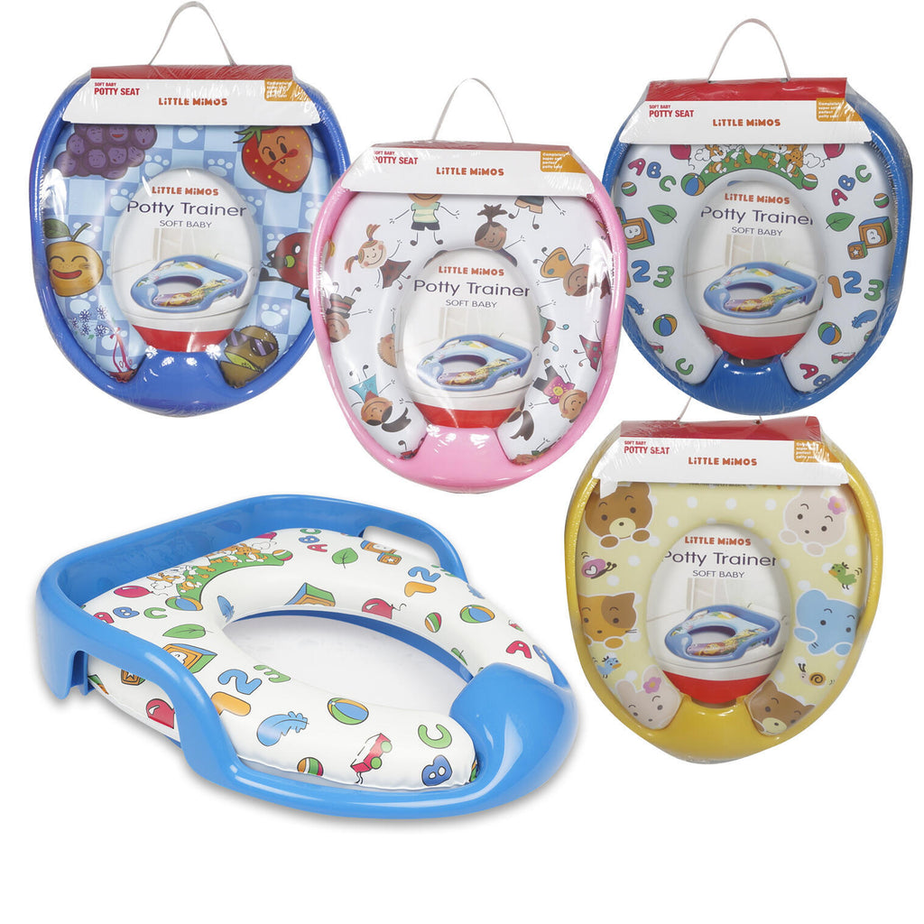 Little Mimos Potty Trainer Seat with Handles - Assorted - CASE OF 12