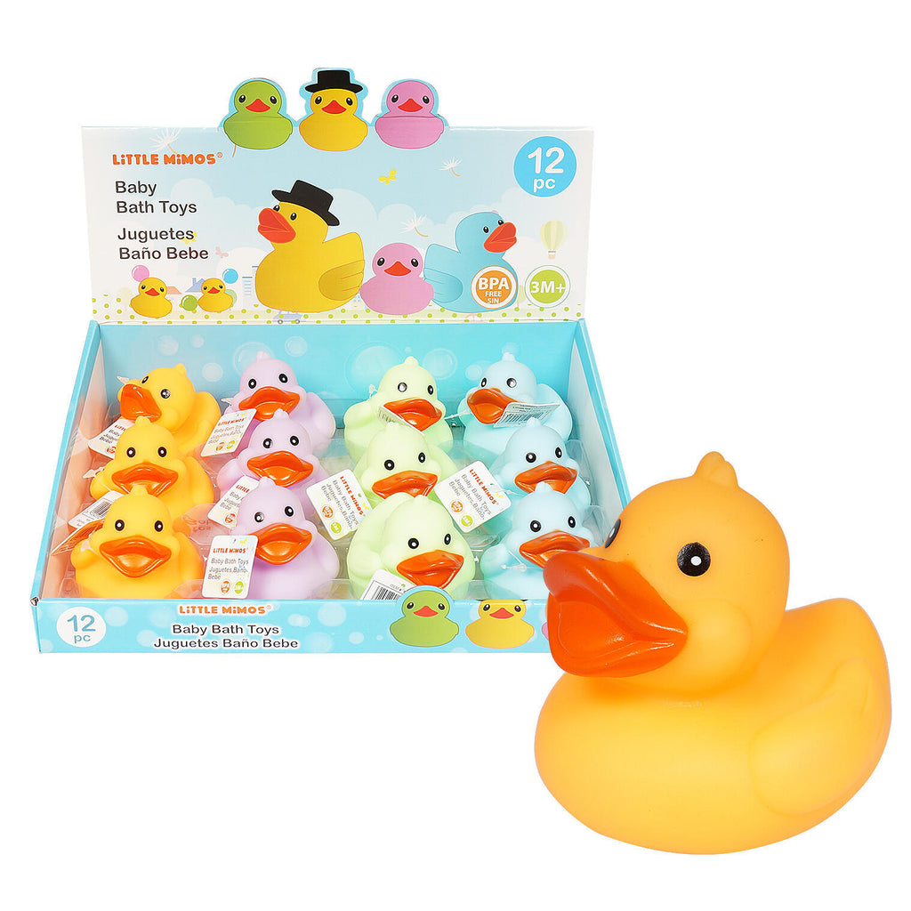Rubber Ducky Bath Toys in Countertop Display - CASE OF 96