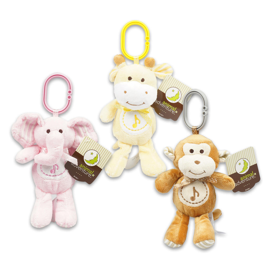 Musical Stroller Plush Toy - Assorted - CASE OF 24