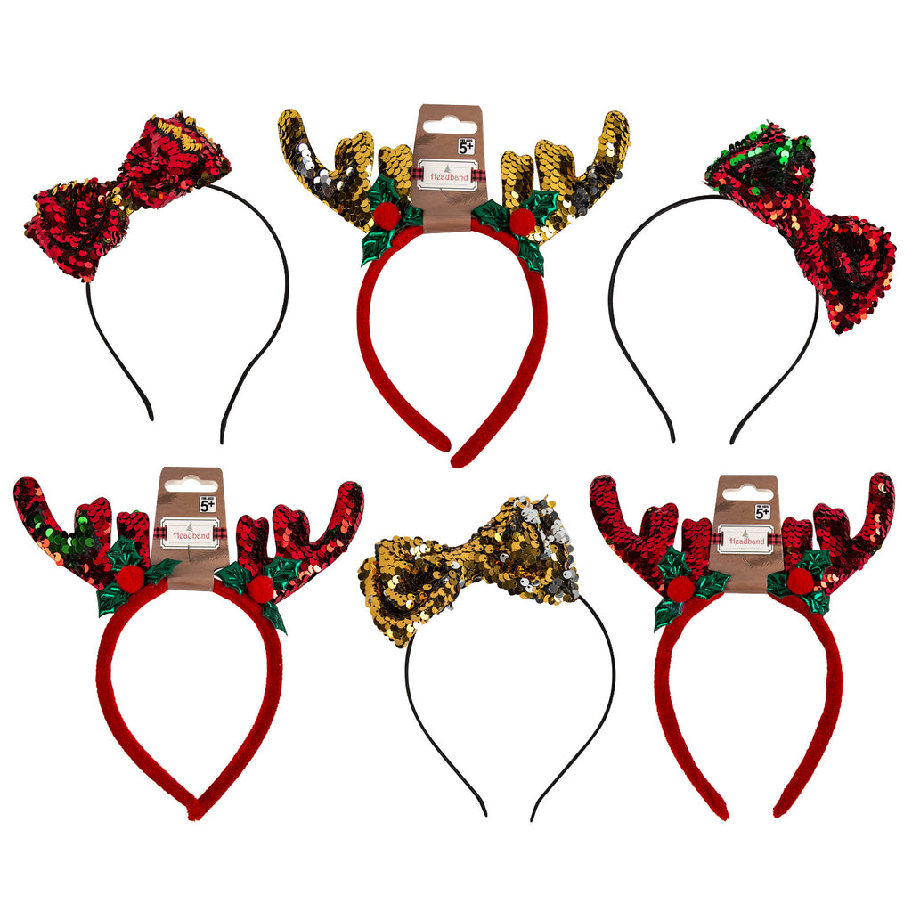 Christmas Sequin Headband - CASE OF 48