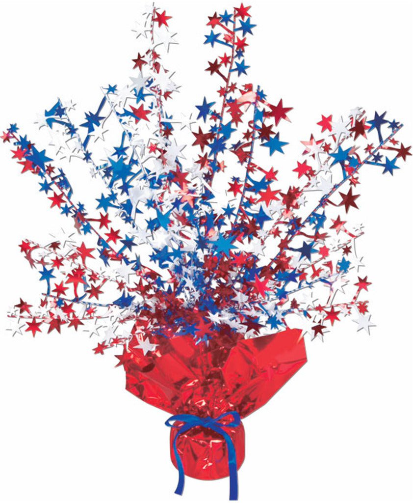 Star Gleam 'N Burst Centerpiece - Red, White, Blue - CASE OF 12
