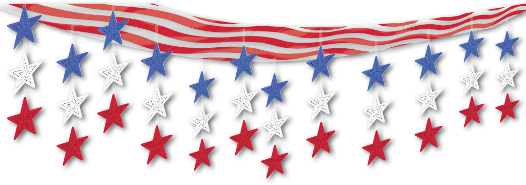 Stars & Stripes Ceiling Decor - CASE OF 6