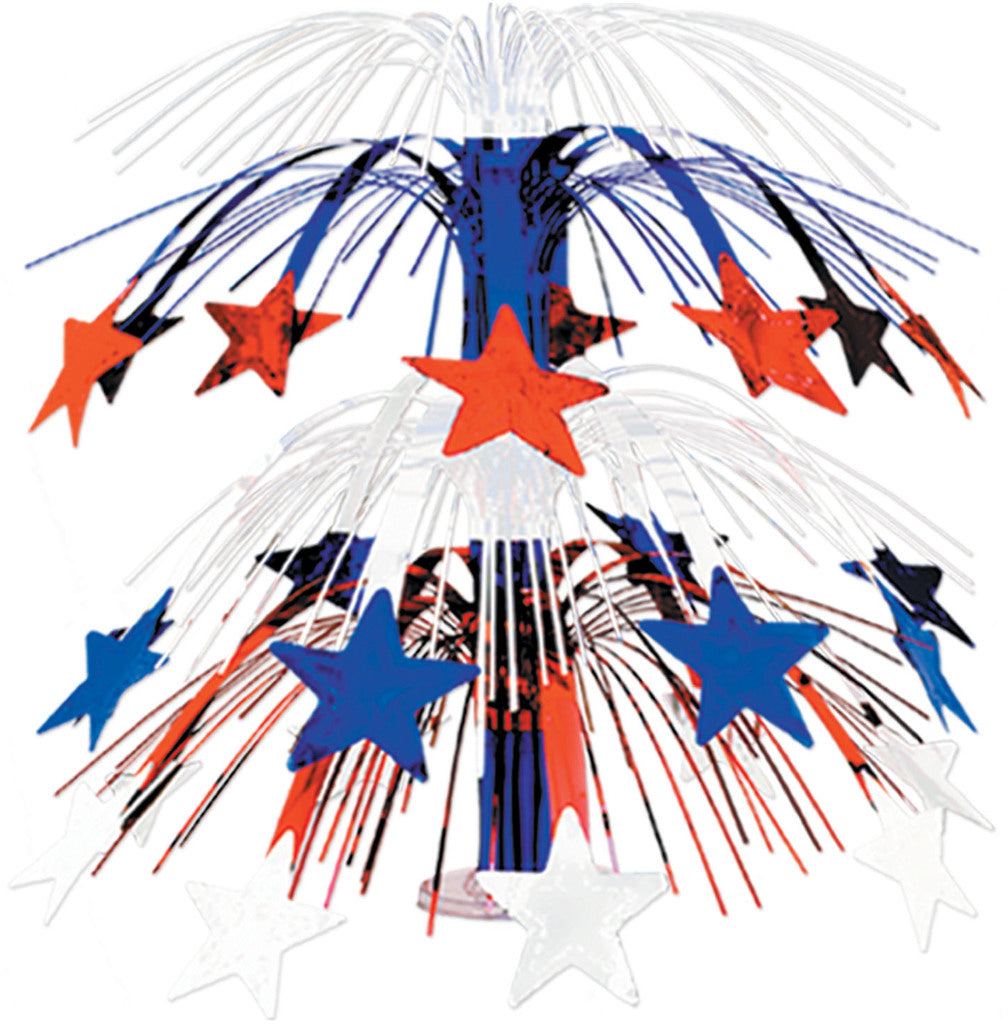 Star Cascade Centerpiece - Red, White, Blue - CASE OF 12
