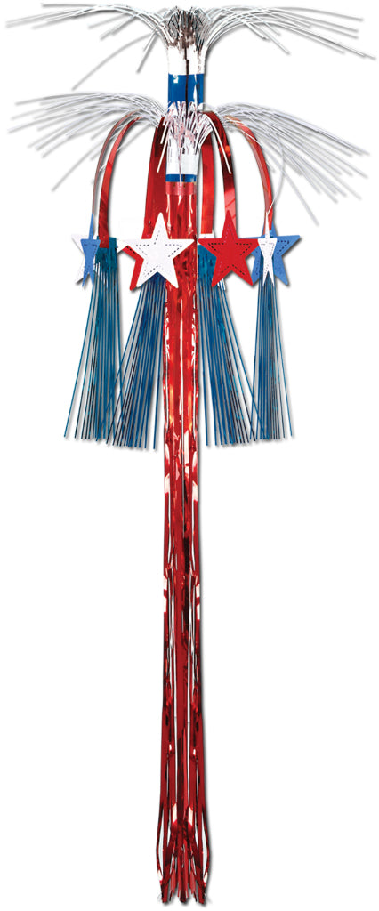 Star Cascade Hanging Column - Red, White, Blue - CASE OF 24