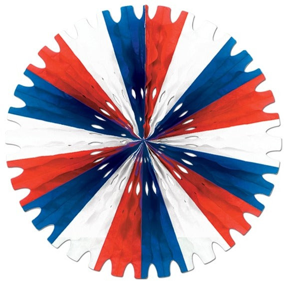 Tissue Fan - Red, White, Blue - CASE OF 24
