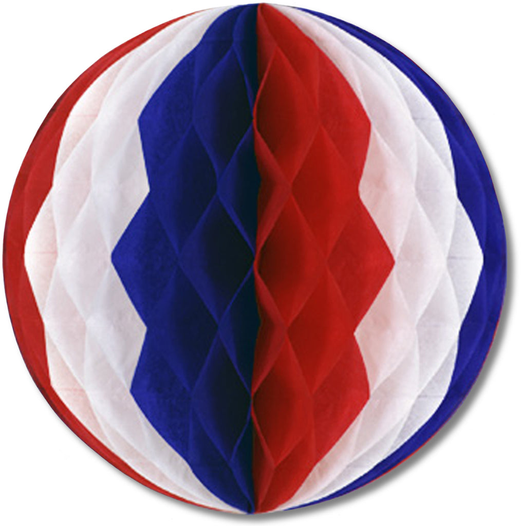 Tissue Ball - Red, White, Blue #BWR21 - CASE OF 24