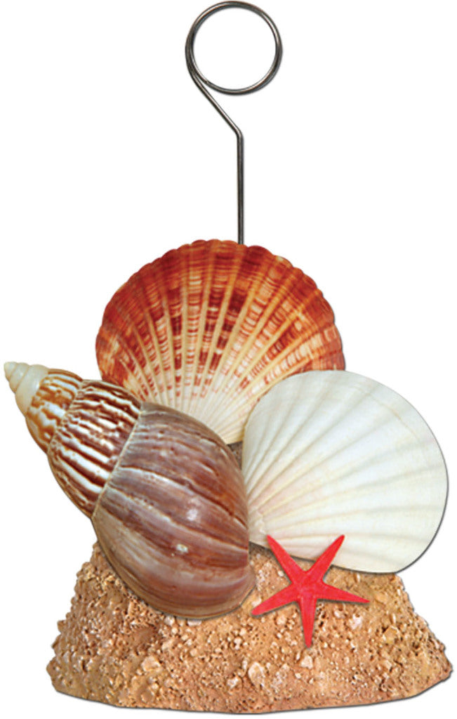 Seashell Photo-Balloon Holder - CASE OF 12