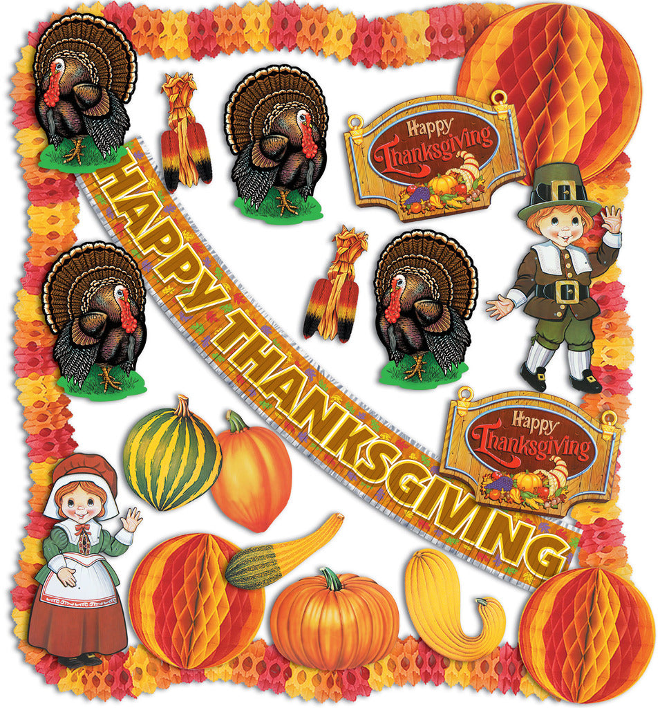 Thanksgiving Decorating Kit - 23 pieces - CASE OF 1