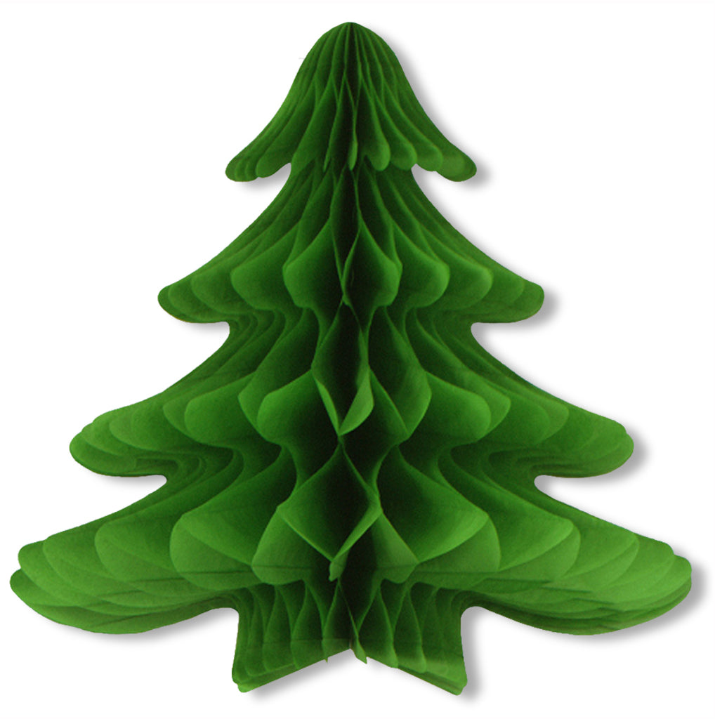 Tissue Hanging Christmas Tree - CASE OF 6