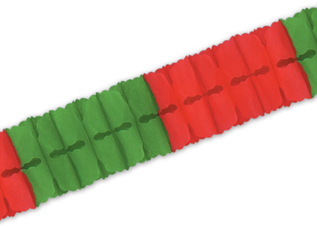 Packaged Leaf Garland - Red & Green - CASE OF 24