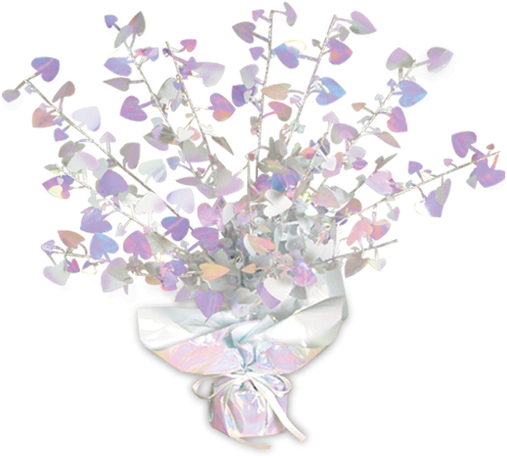Heart Gleam 'N Burst Centerpiece - Opalescent - CASE OF 12