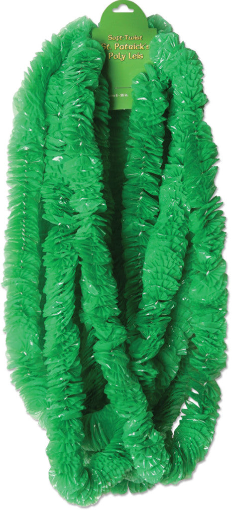 Soft-Twist St Patrick'S Poly Leis - Green #55333 - CASE OF 144