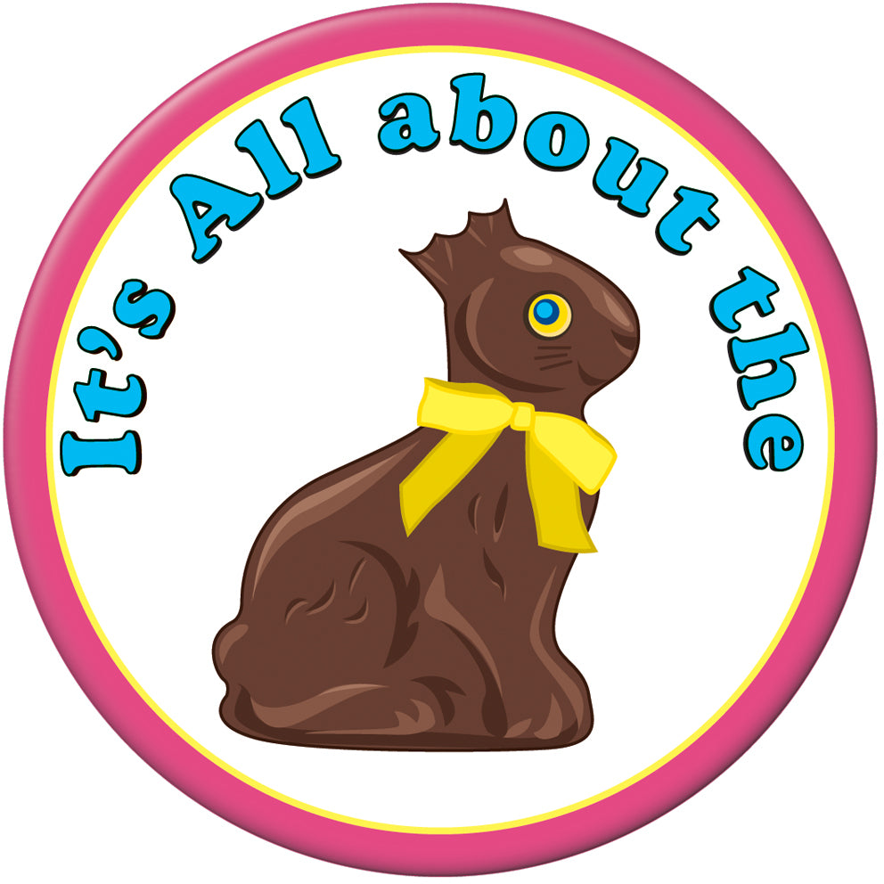Chocolate Bunny Button - CASE OF 36