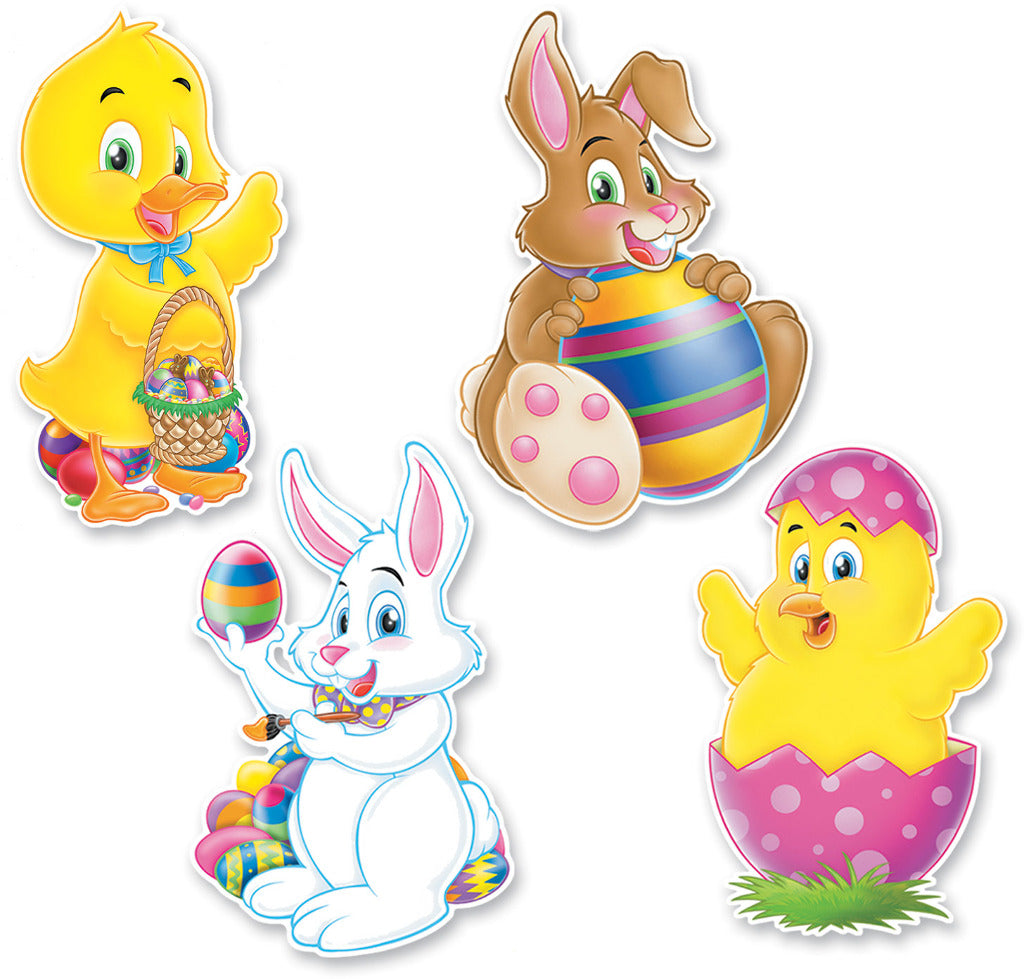 Packaged Easter Cutouts - Printed 2 Sides #62044 - CASE OF 24