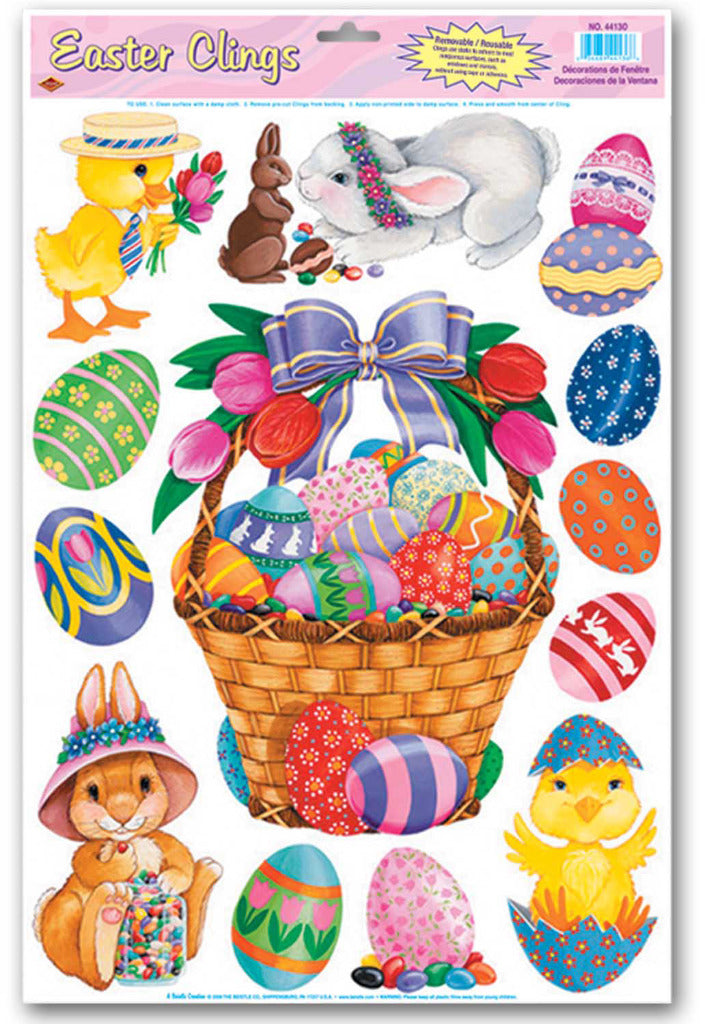 Easter Basket & Friends Clings - CASE OF 36