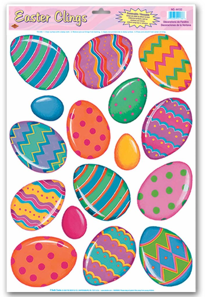 Color Bright Egg Clings - CASE OF 36