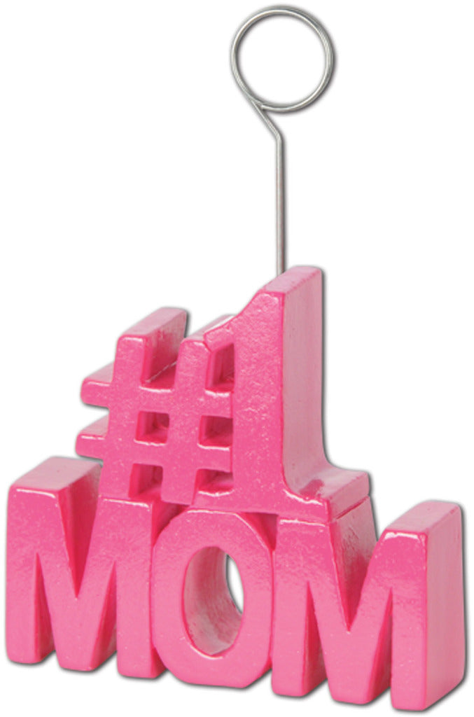 #1 Mom Photo-Balloon Holder - CASE OF 12