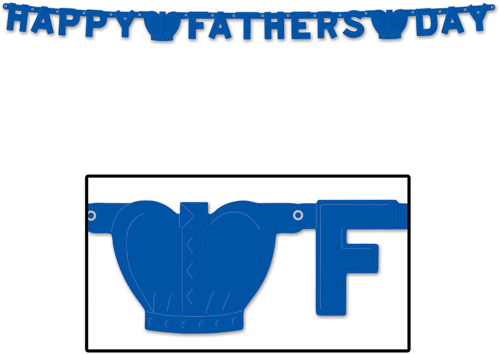 Foil Happy Father's Day Streamer - CASE OF 24