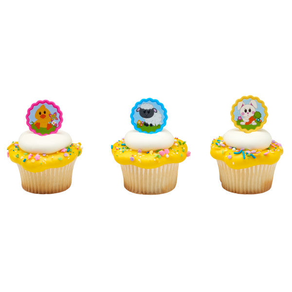 Easter Springtime Animals Cupcake Pics