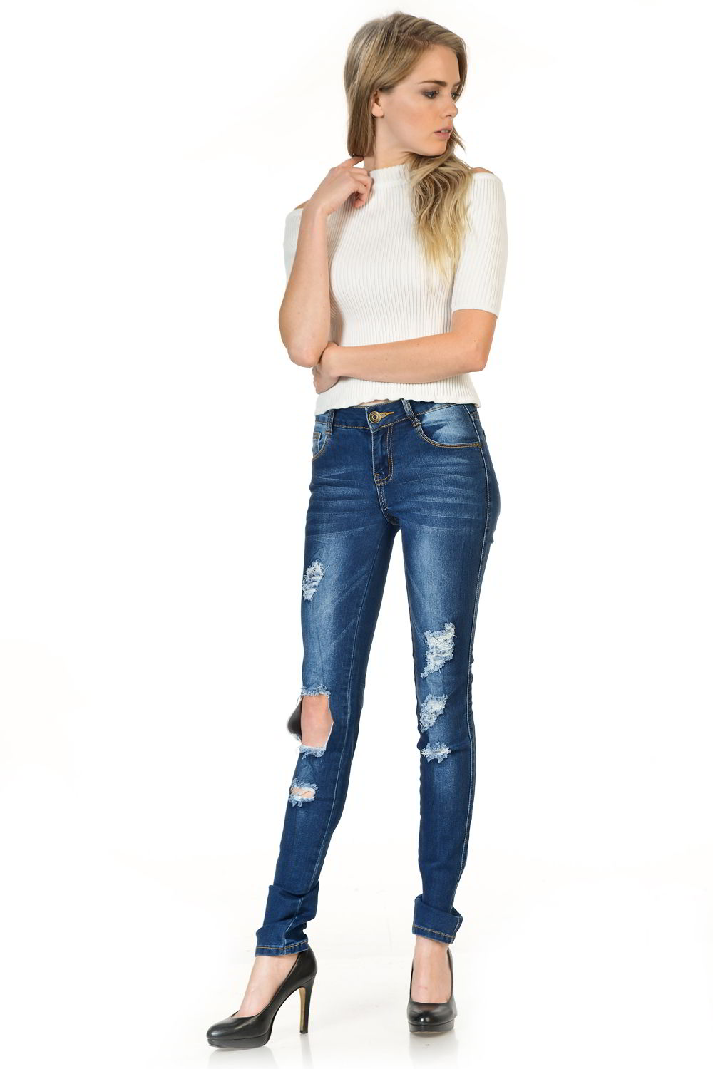 Sweet Look Premium Edition Women's Jeans - Push Up - Style WG448-R