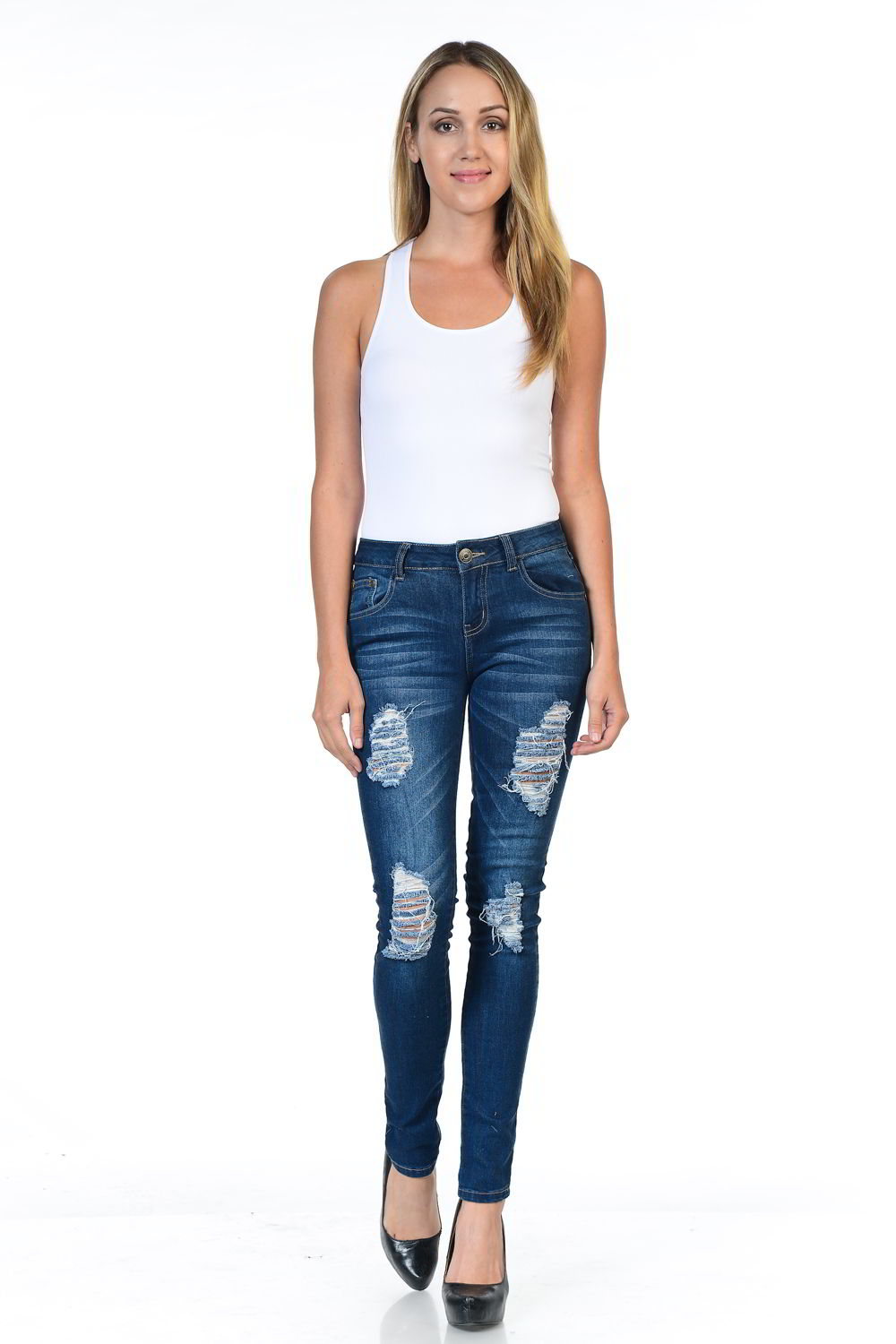 Sweet Look Premium Edition Women's Jeans - Push Up - Style WY5005-R