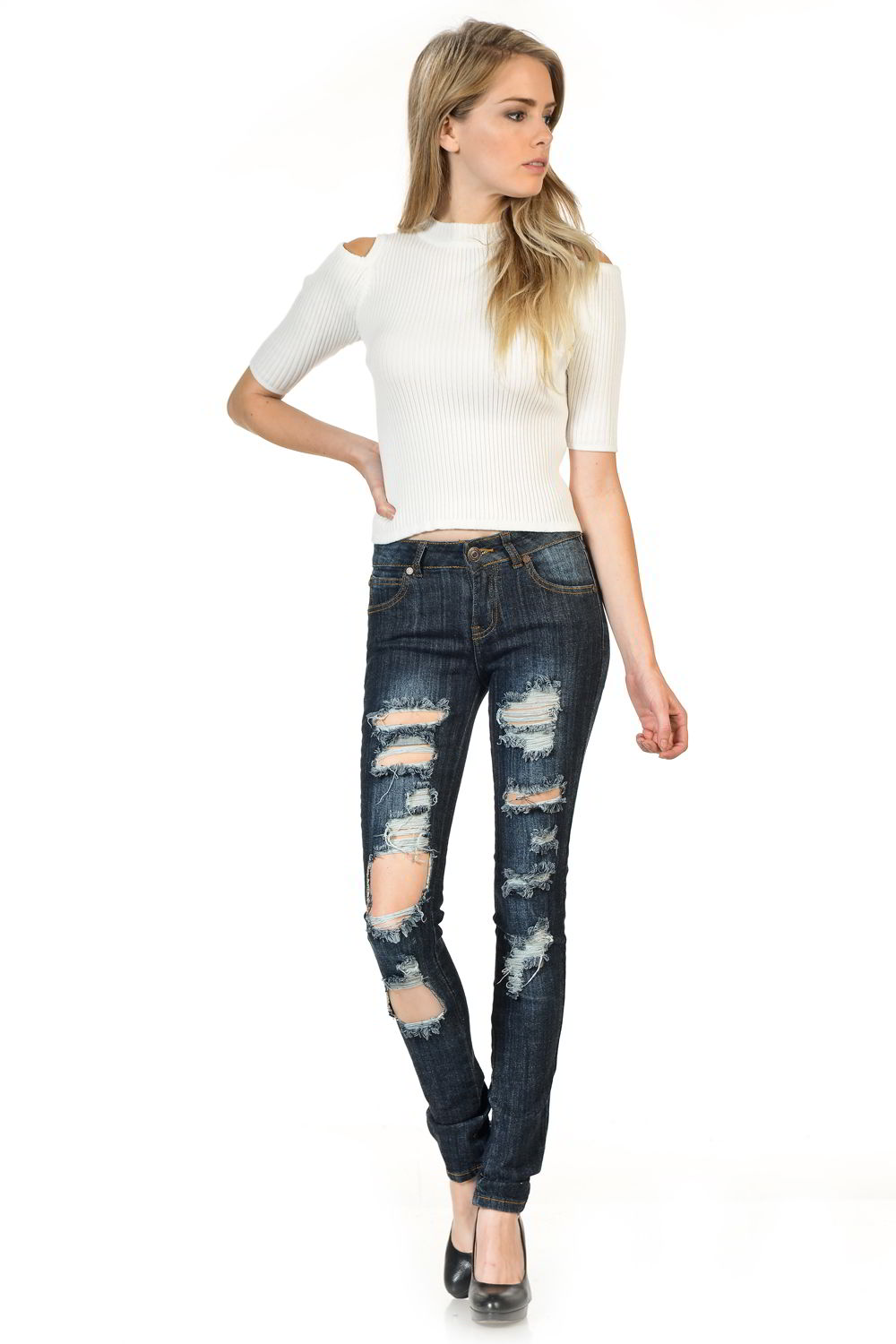 Sweet Look Premium Edition Women's Jeans - Push Up - Style WY5025B-R